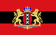 Flag of Amsterdam of Netherlands