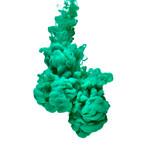 green color paint ink pigment splash