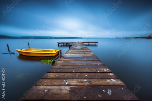 Small Dock and Boat at the lake