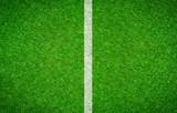 Fußballrasen mit senkrechter Linie