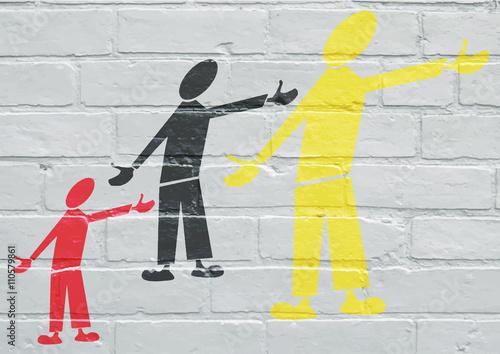 Art urbain, société multiculturelle Poster