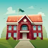 School building. Education.