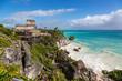 Beautiful scenario in Tulum Ruins in Mexico, Cancun area.