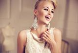 Closeup portrait of an elegant, smiling woman - 110632461