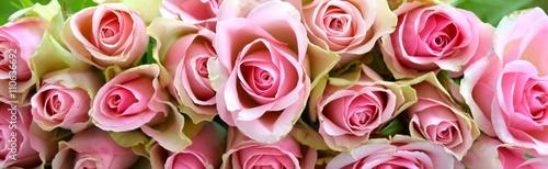 Panel Szklany Grußkarte - rosa Rosenstrauß