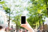スマートフォン, 緑背景