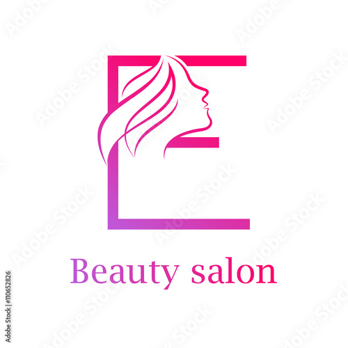 Abstract letter e logo beauty salon logo design template for Abstract beauty salon