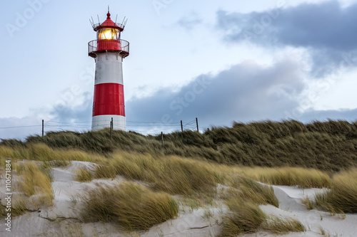 Stormy Weather - Lighthouse at List - Sylt, Germany - 110671884