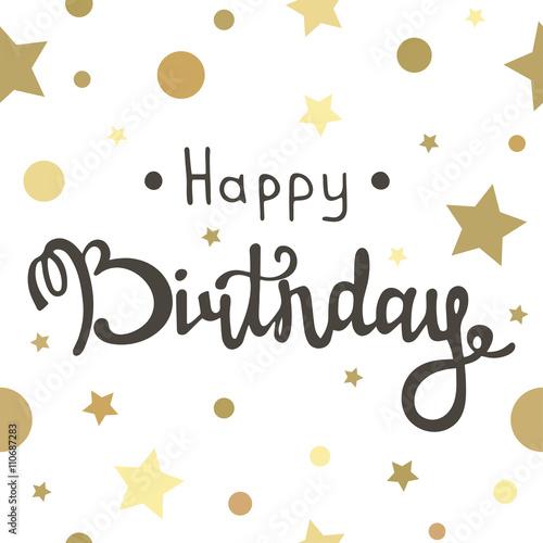 In de dag Retro sign Happy birthday inscription