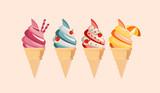 Ricos cucuruchos de helado para el verano