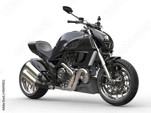 czarny-sporta-motocykl-boczny-widok-zblizenie-strzal-