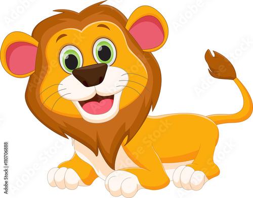 Poster Pony cute lion cartoon