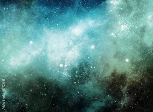 Abstract colorful space nebula for deep background Poster