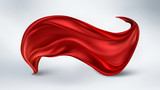 flying red silk fabric