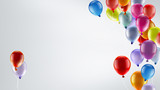 festive background with balloons - 110733254