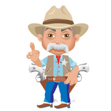 Wise Sheriff, cartoon character in Wild West