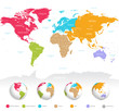 Detaily fotografie Colorful vector World Map