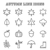 autumn line icons
