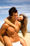 Sexy couple on the beach