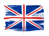 Great Britain colorful brush strokes painted flag. - 110766687