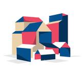 Architettura di carta piegata e origami