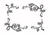illustration of the frame. rose.