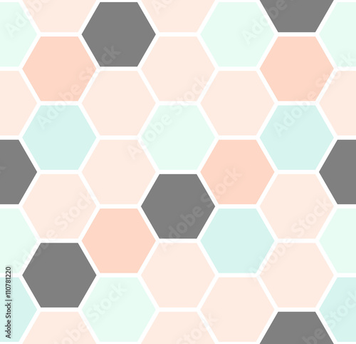 Hexagon Seamless Pattern - 110781220