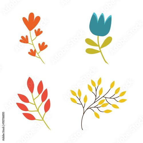 Zdjęcia na płótnie, fototapety, obrazy : Flower design. Garden concept. Colorful illustration