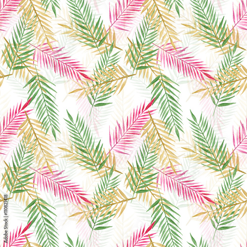 tropical palm leaves - 110821418