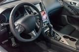 Dark luxury and modern car interior.