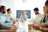 Meeting in board room