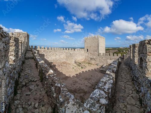 Poster Sesimbra castle, Portugal.