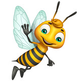 cute Bee funny cartoon character - 110836210