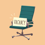 Vacant chair. Concept vector illustration.