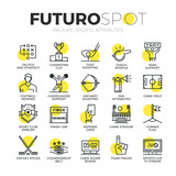 Sports Attributes Futuro Spot Icons