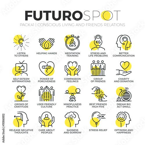 Conscious Living Futuro Spot Icons