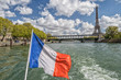 paris cityscape view panorama from seine