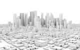 Fototapety 3d city panorama