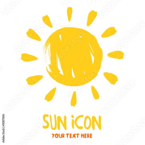 Sun burst logo icon