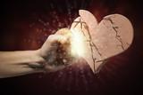 Broken stone heart