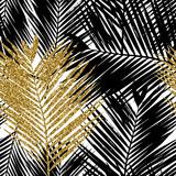 Palm Tree Leaves Seamless Pattern - 110875854