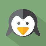 Modern Flat Design Penguin Icon Vector Illustration.