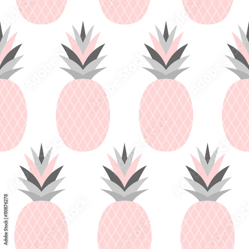Pink Pineapples Pattern - 110876278
