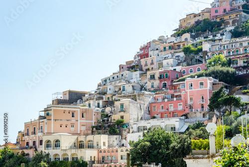 Fototapeta Village of Positano in the Amalfi Coast