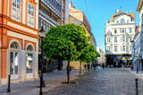 Laurinska street view in old town of Bratislava city, Slovakia