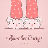 Fototapety Slumber party invitation