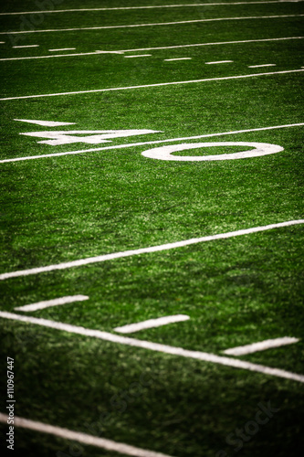 Poster 40 Yard Line on a Football Field