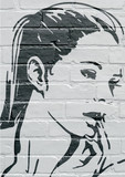 Fototapety Art urbain, portrait d'une jeune femme