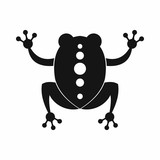 Frog icon, black simple style