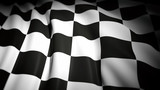 3D rendering of wavy checkered flag, closeup background
